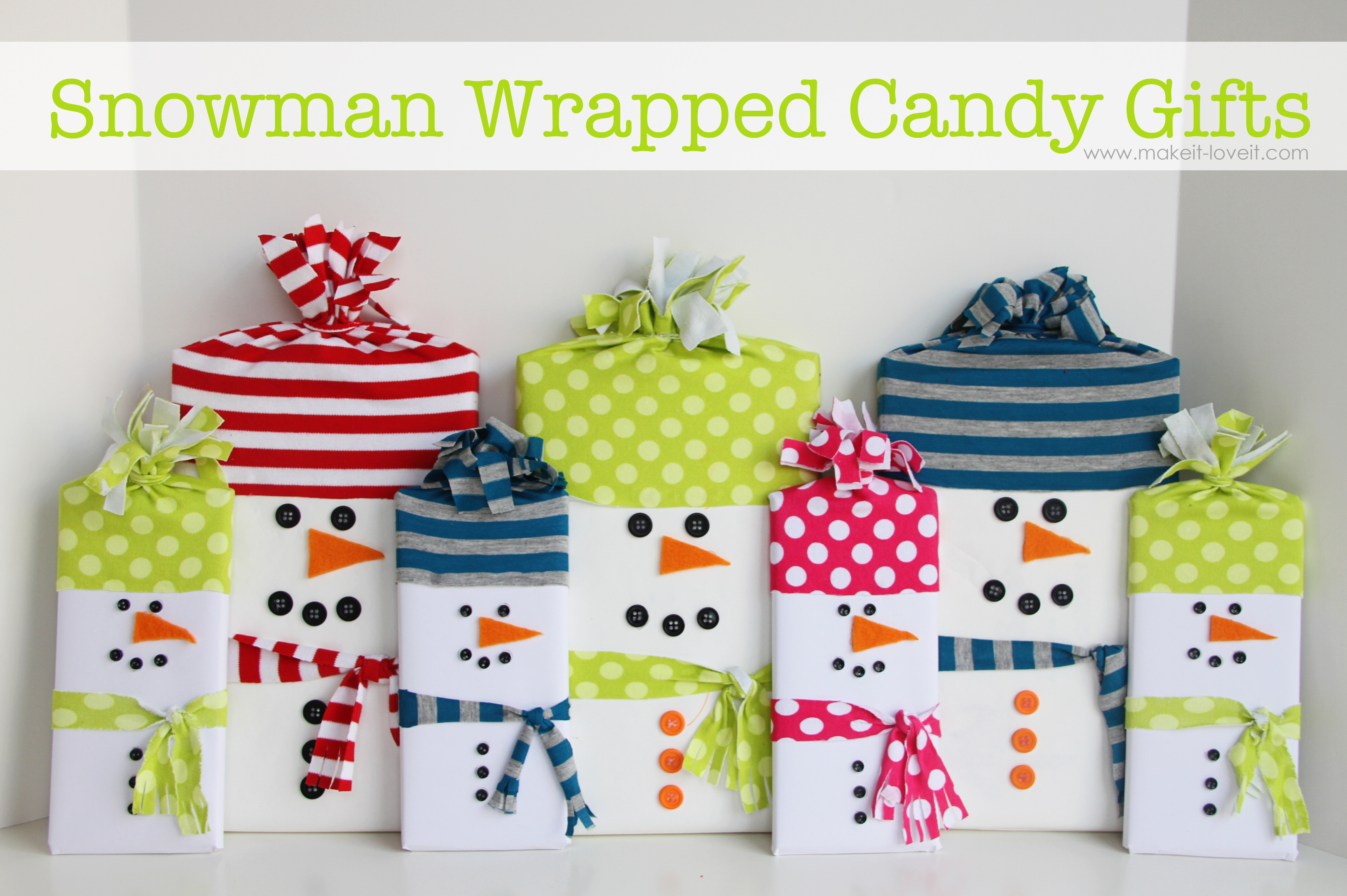Wrapped Christmas Candy  Snowman Wrapped Candy Gifts