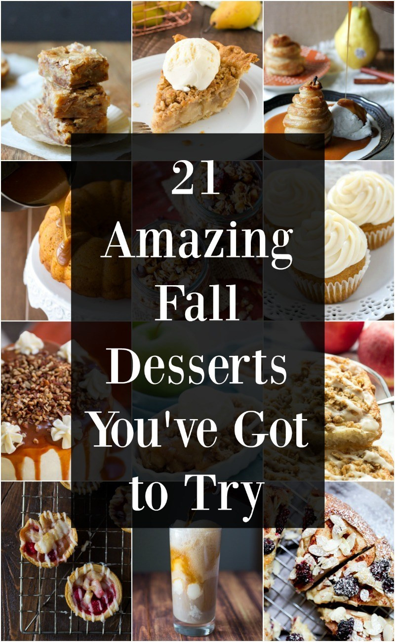 Yummy Fall Desserts  21 Easy Fall Desserts You ve Got to Try Maebells